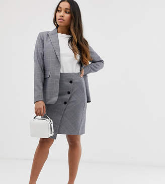 Y.A.S Petite Thesis check co-ord wrap skirt