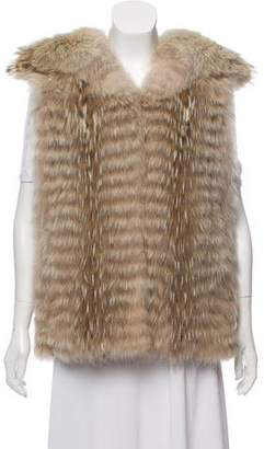 Yves Salomon Coyote Fur Vest