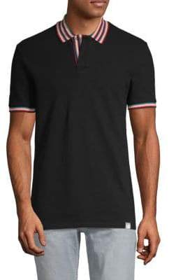 Versace Stripe-Trim Polo