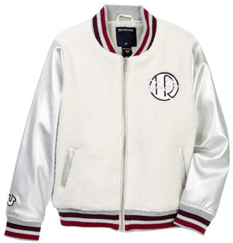 True Religion Faux Shearling Varsity Jacket (Big Girls) $119 thestylecure.com