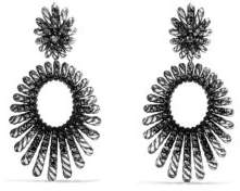 David Yurman Tempo Double Drop Earrings with Black Spinel
