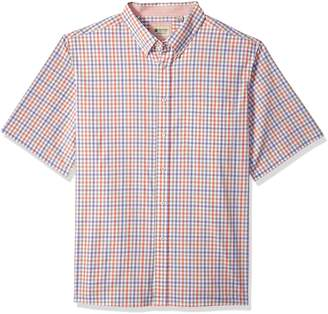 Haggar Men's Big Short Sleeve Poplin Woven Shirt