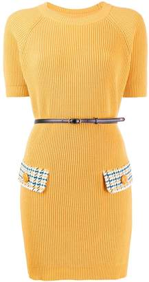 Elisabetta Franchi houndstooth knit mini dress