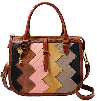 Fossil Ryder Zigzag Leather Satchel