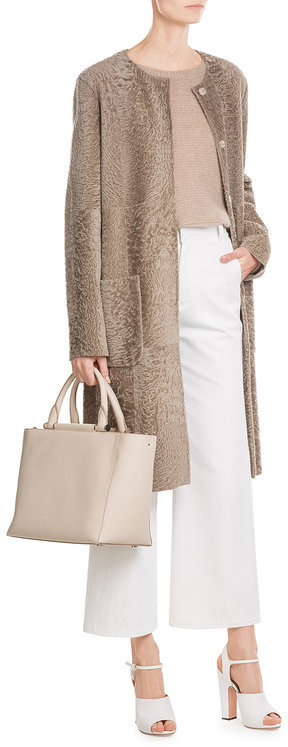Max Mara Max Mara Suede and Shearling Coat