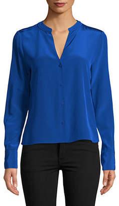 Diane von Furstenberg Long-Sleeve Silk Shirt