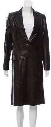 Alaà ̄a Leather Skirt Suit w/ Tags Black Alaà ̄a Leather Skirt Suit w/ Tags