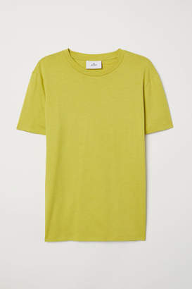 H&M Cotton and Silk T-shirt - Yellow