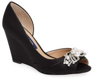 Nina Rona Swarovski Wedge Sandal