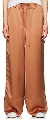 Off-White Women's Crepe Wide-Leg Carpenter Pants