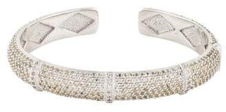 Jude Frances Wide Soho Pave Rondell Cuff
