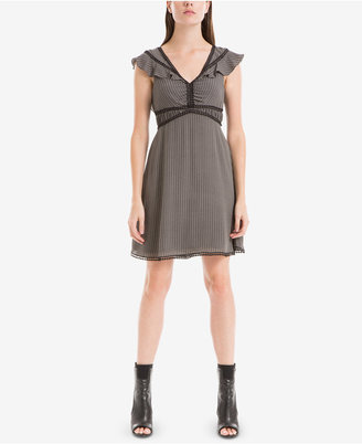 Max Studio London Flutter-Sleeve A-Line Dress $138 thestylecure.com