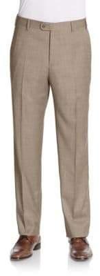 Zanella Flat-Front Wool Trousers