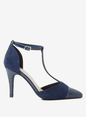 b535d04cb67 Dorothy Perkins Womens Wide Fit Navy Microfibre  Game  Court Shoes