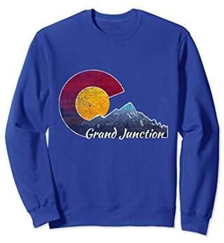 Grand Junction Colorado Sweatshirt with Flag Inspired Scene
