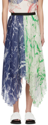 Marina Moscone Multicolor Plisse Skirt