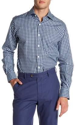 Peter Millar Yachting Gingham Print Regular Fit Shirt