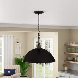 Beachcrest Home Bridgepointe 1-Light Dome Pendant