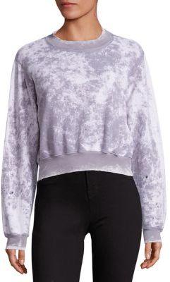 Cotton Citizen Milan Cropped Crewneck Sweatshirt $195 thestylecure.com