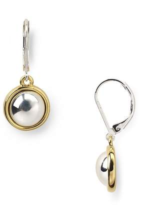 Lauren Ralph Lauren Two-Tone Button Drop Earrings