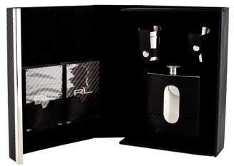 Ralph Lauren 6-Piece Sutton Leather-Steel Flask Set