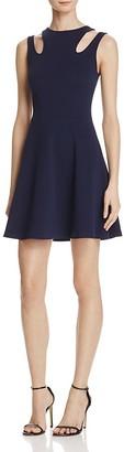 AQUA Cutout Shoulder Textured Dress - 100% Exclusive $78 thestylecure.com