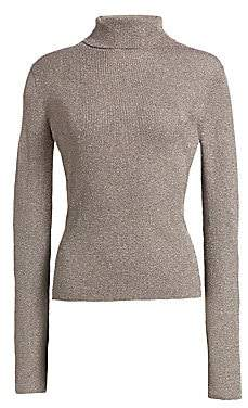 3.1 Phillip Lim Women's Lurex Ribbed Turtleneck Sweater