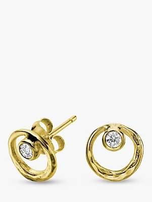 Dower & Hall 18ct Vermeil Circle Stud Earrings