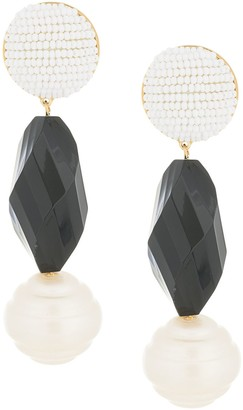 Shourouk beaded drop earrings