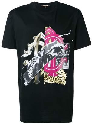 Roberto Cavalli collage logo print T-shirt