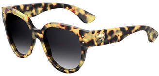 Moschino Round Acetate Sunglasses