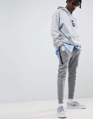 Nike Football England Tech Fleece Joggers In Grey 891313-091