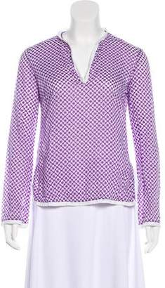 Tory Burch V-Neck Long Sleeves Top