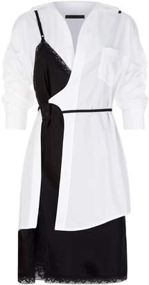 Alexander Wang Hybrid Satin Wrap Dress