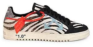 Off-White Women's Low-Top Zebra Arrow Leather Sneakers