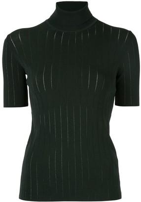 CK Calvin Klein funnel-neck short-sleeve top