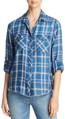 Billy T Lace-Up Plaid Shirt
