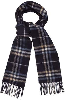 Reiss Lisle - Lambswool Cashmere Blend Scarf in Blue Check