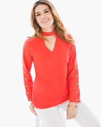 Chico's Hardware Detail Choker Top