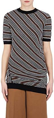 Marni Women's Striped Wool-Blend Draped Sweater