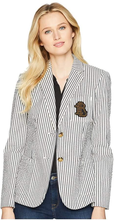 Monogram Blazer Women's Jacket