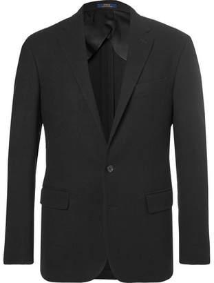 Black Basketweave Wool Blazer