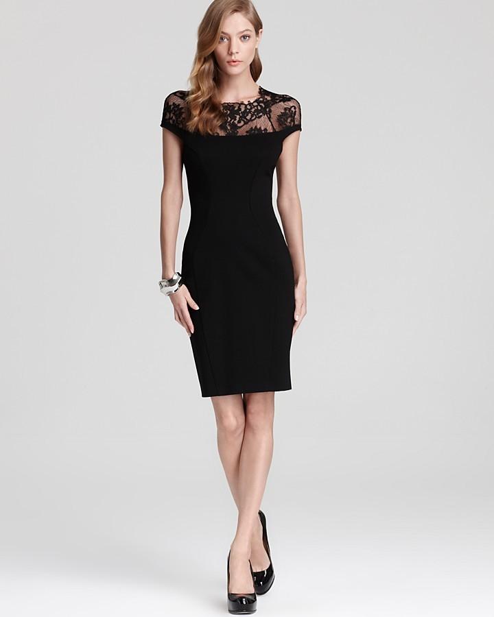 ABS by Allen Schwartz Dress - Cap Sleeve Lace
