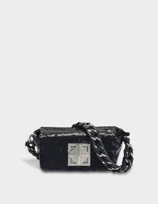 Sonia Rykiel Le Copain Mini Bag in Black Grained Goat Leather