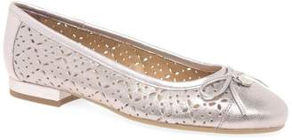 Van Dal Metallic Leather 'Wentworth' Flat Wide Fit Ballet Pumps