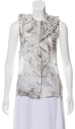 Diane von Furstenberg Button-Up Silk Blouse