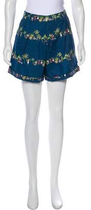 Rachel Antonoff High-Rise Mini Shorts