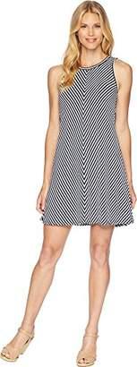 Three Dots Women's Desert Stripe a-line Short Loose Dress