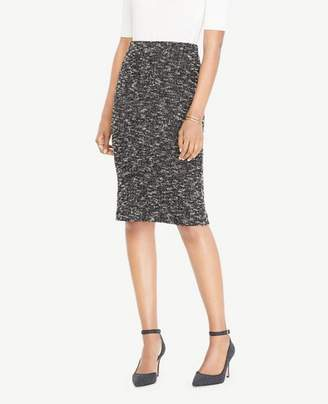 Ann Taylor Knit Tweed Pencil Skirt