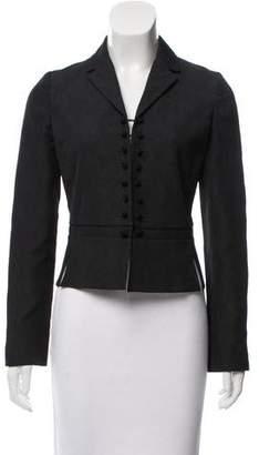 Calvin Klein Collection Jacquard Notched-Lapel Blazer